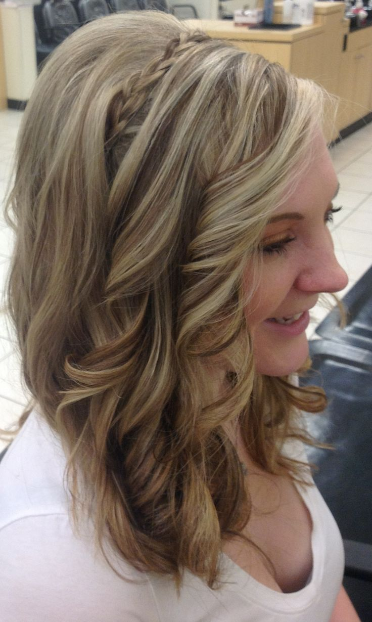Blond and brown foil, curls, | Hair by Sarah Stevens ...