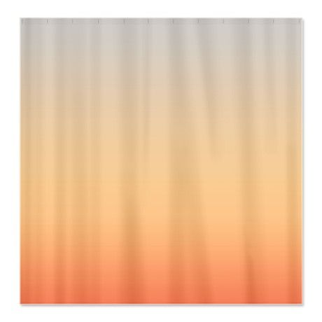 Gray And Peach Shower Curtain On