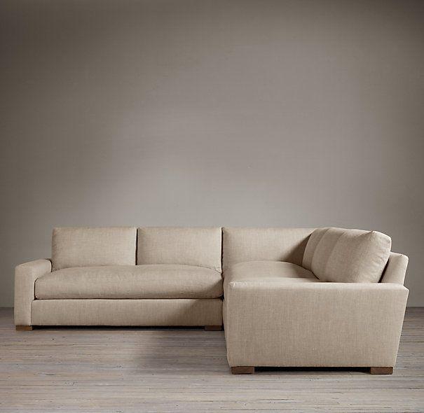 upholstered corner sectional sectionals restoration hardware
