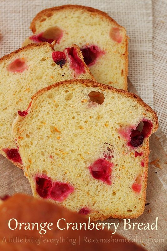 Orange Cranberry Bread Recipe | Doughy | Pinterest