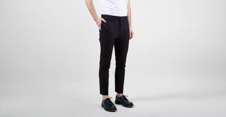 Acne Brady Cotton Trousers Black