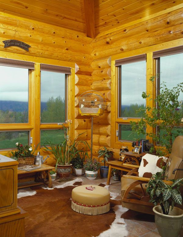 simple window treatment wood blinds log cabin ideas