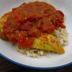 Curried Mango Chicken Allrecipes.com Small can tomatoes, can add fresh ...