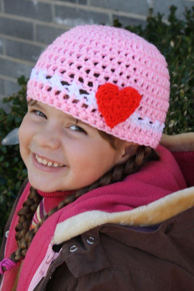 Crochet Valentine Hat : Valentine crochet hat Crochet Pinterest
