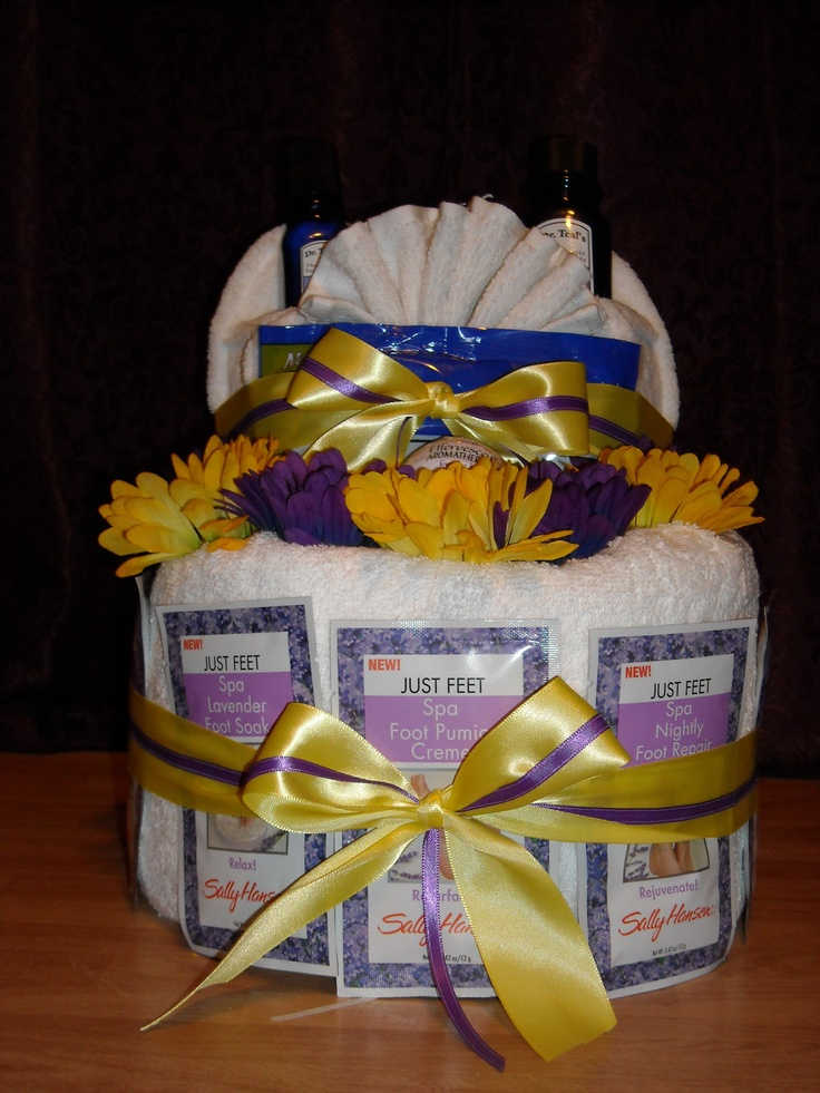 Bridal Shower Gift For Future Sister In Law : Spa Gift Basket I made my sister-in-law for her bridal shower.