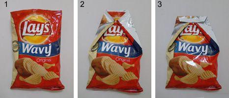 chip bag origami