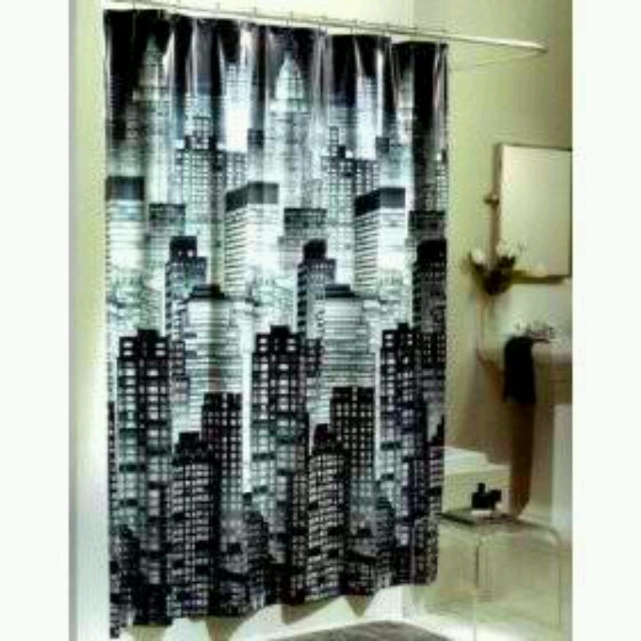 Cityscape shower curtain | Cool Stuff to Buy | Pinterest