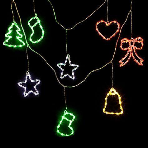 ... Garland Christmas Line Lights, x10, Multi Online at johnlewis.com