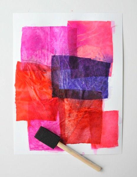 Tissue Paper Art: Valentines Hearts   Kindergarten   Pinterest
