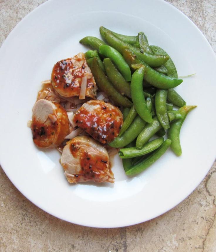 BistroMD Pork Tenderloin in Asian Plum Sauce and Sugar Snap Peas