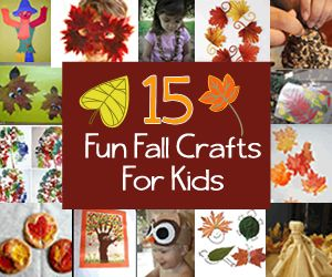 15 fall crafts for kids from @Babble. #fall #kidscrafts