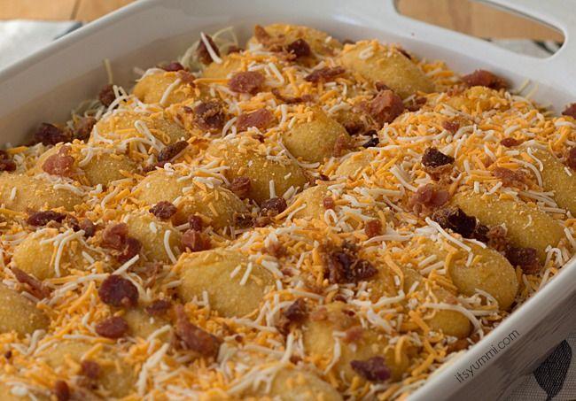 Ad Chili Cheese Corn Dog Casserole from It's Yummi! #GetCorny #cbias