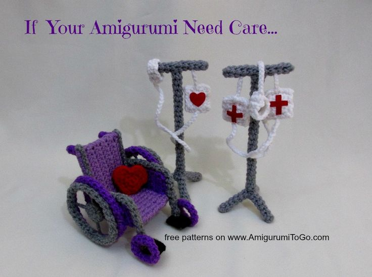 Amigurumi To Go Tutorial : Amigurumi to go wheelchair iv care set misc crochet
