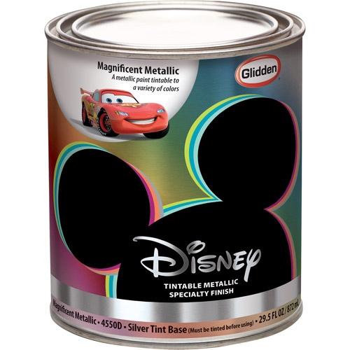 Disney Magnificent Metallic Silver Interior Specialty Paint 1 Quart