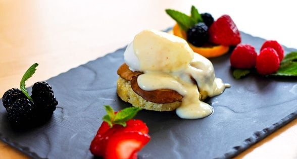 Lighter Eggs Benedict With Mock Hollandaise Sauce Recipes — Dishmaps
