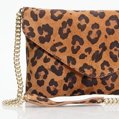 J.Crew invitation clutch in leopard $138