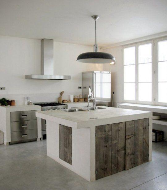 Brick Stone Wood And Concrete 15 Beautiful Rustic Kitchens