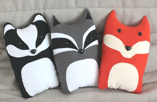 How To Make Cute Animal Pillows : Cute animal pillows Projects Pinterest
