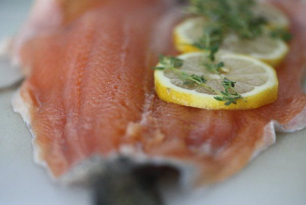 Whole Roasted Trout with Lemon and Thyme #glutenfree #healthy