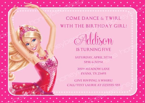 Delightful Barbie Birthday Invitations Templates