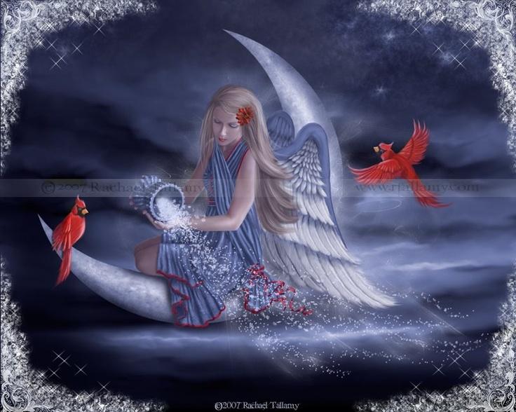 Jolie noel angel moon