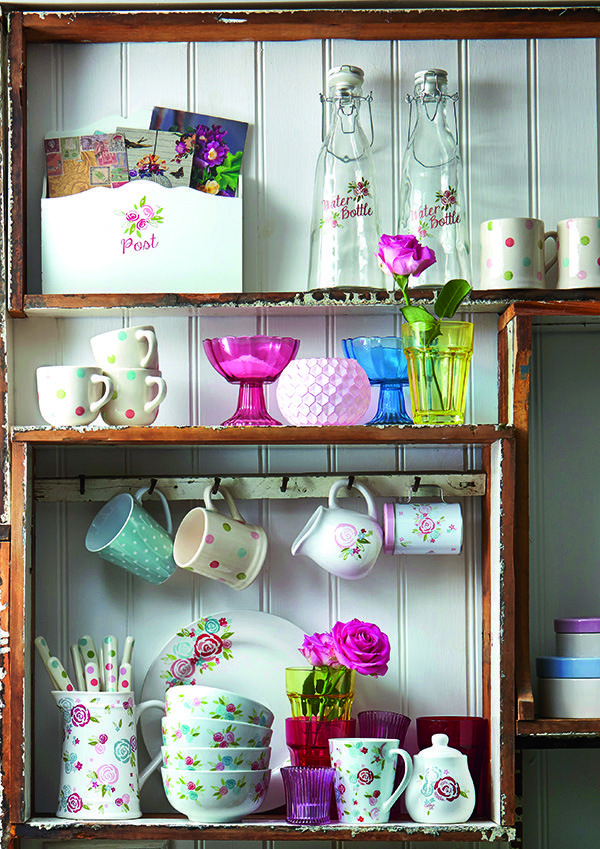 Dunelm LookBook SS14 Candy Rose Kitchen New Pastel Floral Homewares from Dunelm Mill
