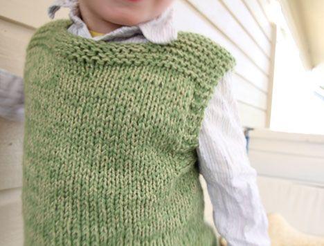 plain vest, childs Knitting Pinterest