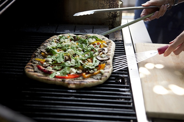 Grilled Pizza with Basil Pesto, Vegetables and Goat Cheese