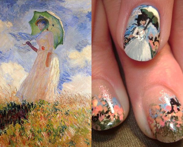 Monet nails... check out all the other mani's inspired by artists!