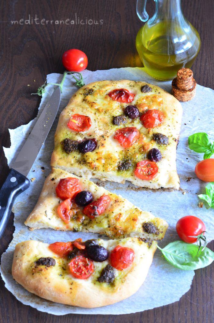 Fresh Tomato, Mozzarella and Pesto Pizza   Main Courses   Pinterest