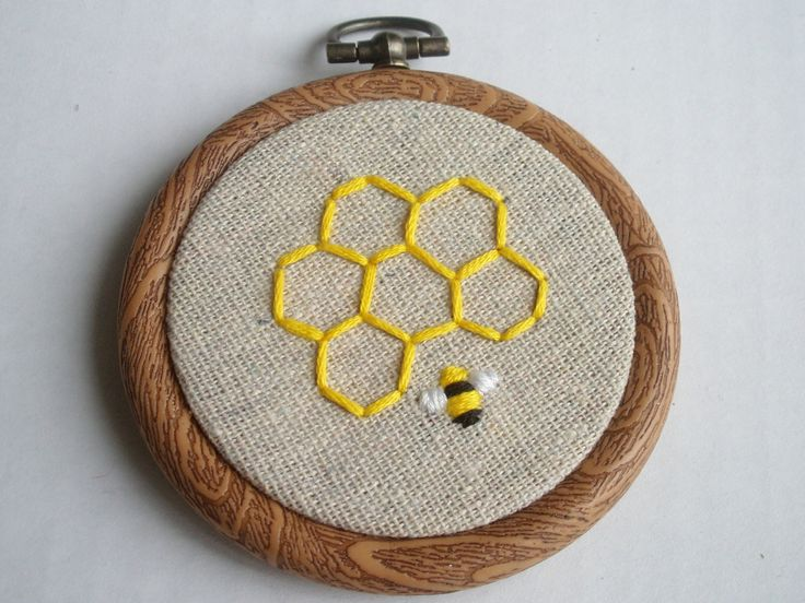 Honey bee embroidery bees pinterest
