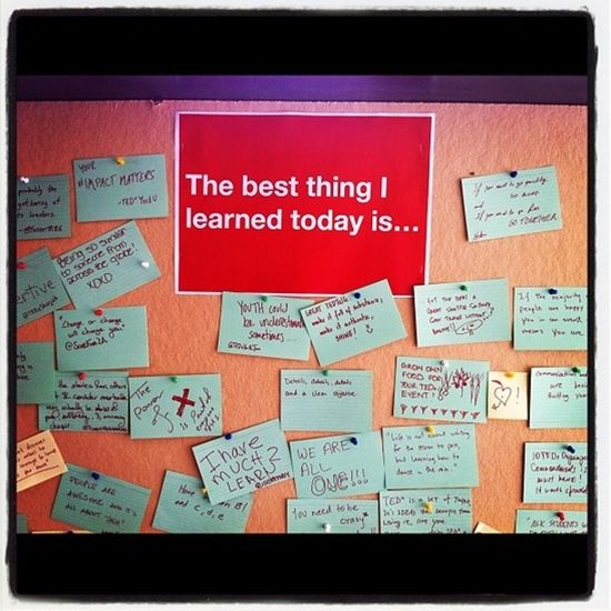 """The Best Thing I Learned Today"" Bulletin Board"