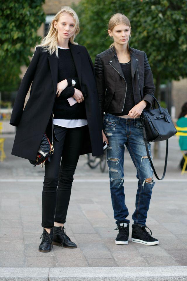 new school cool. #NastyaSten & #AlexandraElizabeth #offduty in London.