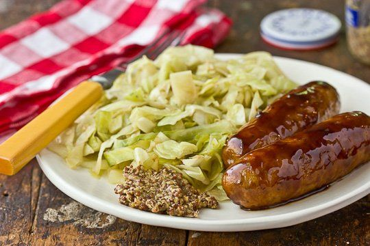 Recipe: Glazed Chicken Sausage with Sautéed Cabbage Recipes from The ...