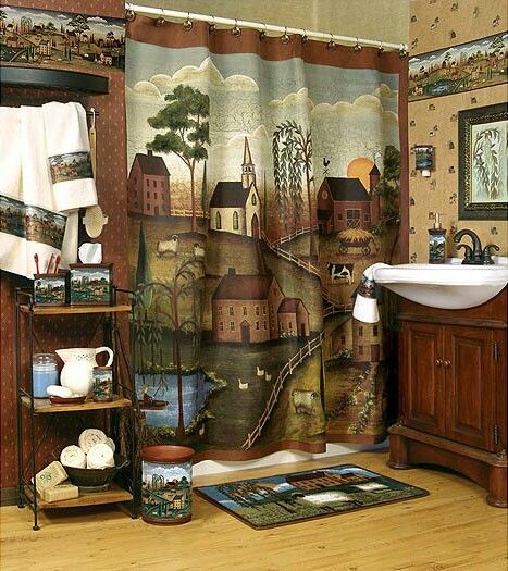 Love This Country Primitive Shower Curtain Pinterest