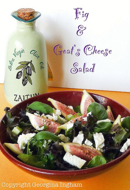 Fig & Goat's Cheese Salad by Culinary Travels, via Flickr