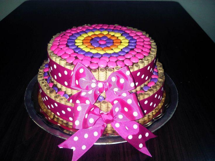 Torta de chocolate con pirulin