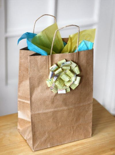 How to make homemade gift bows.