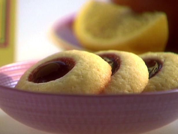 Raspberry Lemon Thumbprint Cookies from FoodNetwork.com...just made ...
