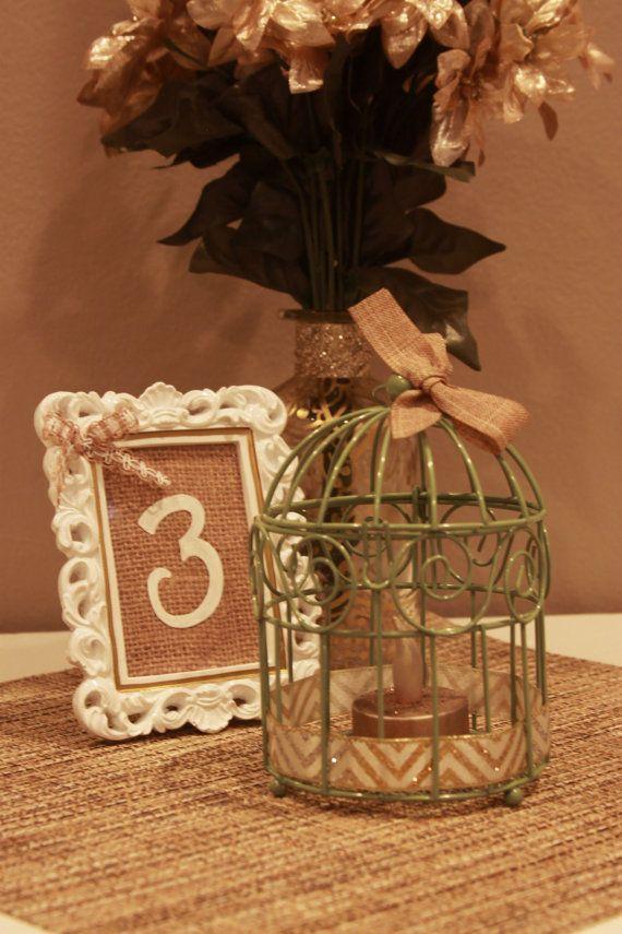 Mini birdcage centerpieces - photo#4