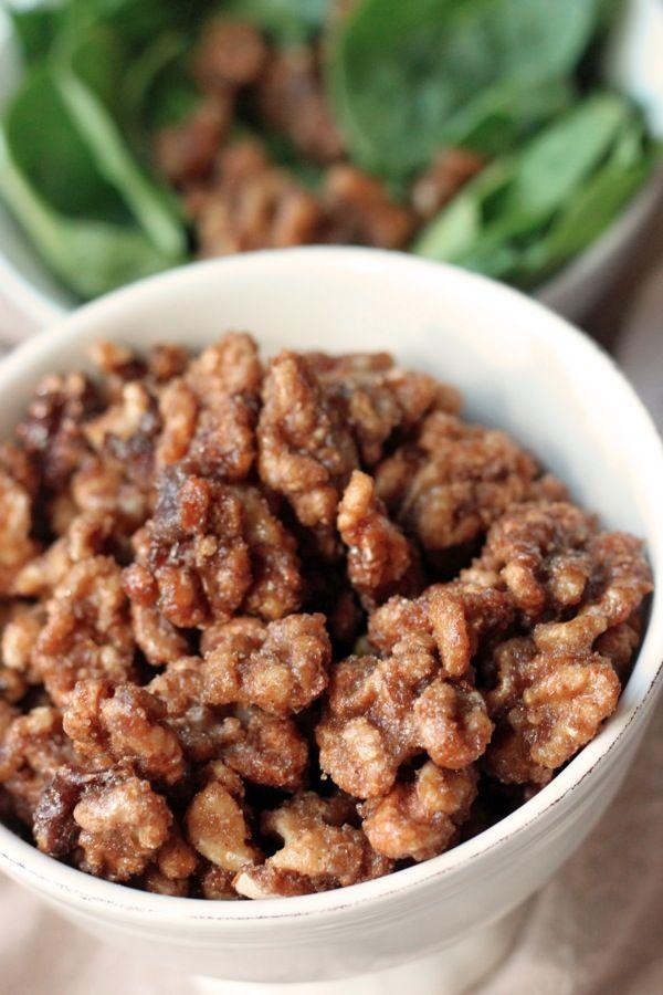 ... walnuts with caramelized balsamic, brown sugar & pumpkin pie spice