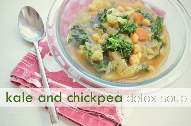 kale and chickpea detox soup | Food/Drink/Fatty Life | Pinterest