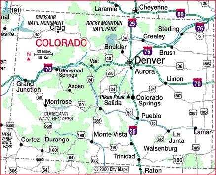 Map Of Colorado Cities Travel Colorado City Highway
