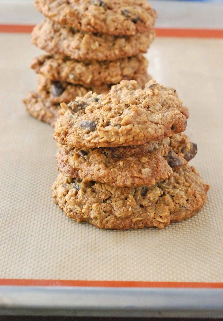 whole wheat chocolate chip oatmeal cookies | Desserts | Pinterest