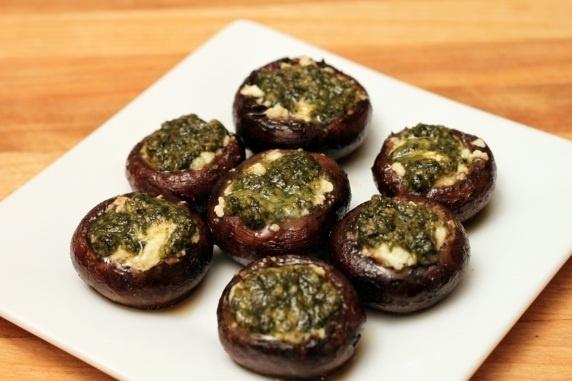 ... mozzarella cheese stuffed mushrooms because @Amy Brennan hates feta