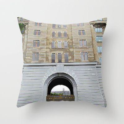 Montreal 8353 Throw Pillow by Korok Studios - $20.00