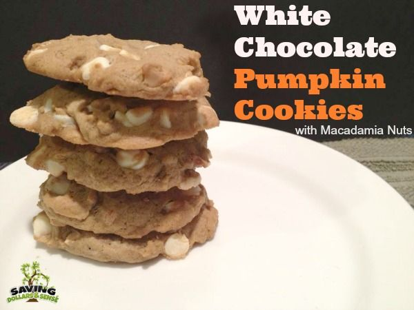 Pumpkin White Chocolate And Macadamia Nut Cookies Recipe — Dishmaps