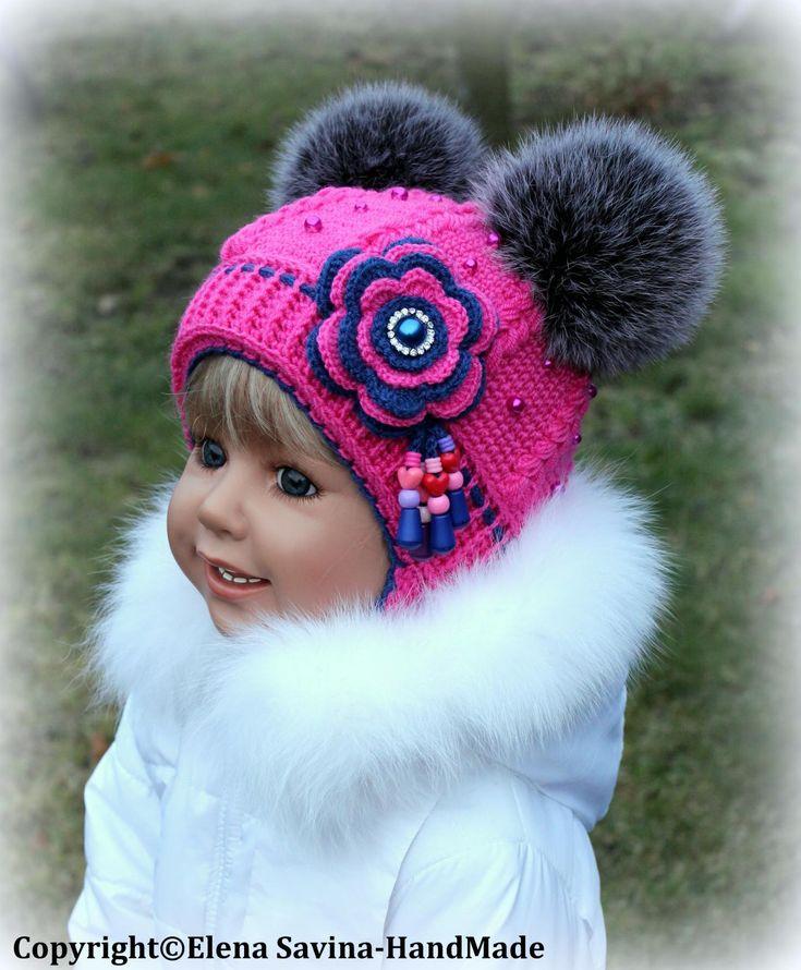 Страна мам вязание зимних шапок для девочек