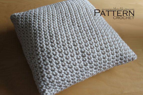 Beginner Crochet Pillow Patterns : Super Bulky Chunky Pillow - Beginner Crochet PATTERN PDF ...