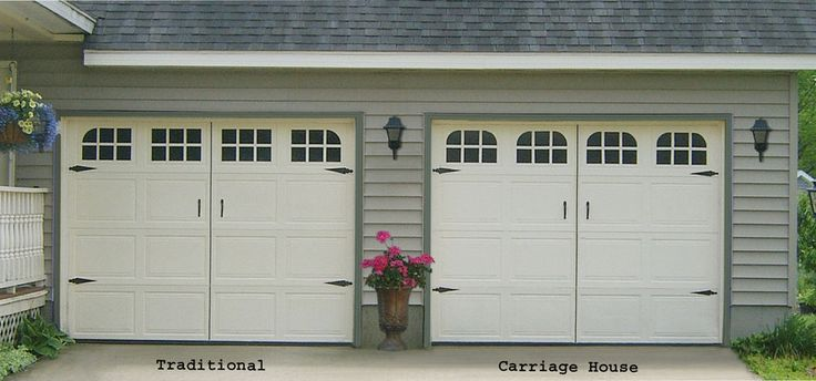 Garage door decal faux window carriage house style